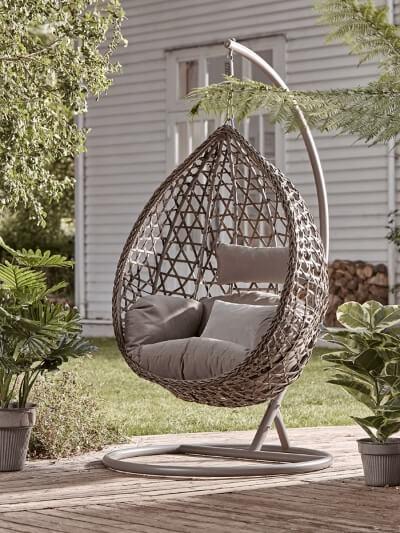 Cox & Cox Teardrop Hanging Chair